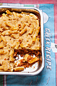 Vegan pastizio (Greek pasta bake) with quinoa