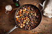 Beef Stew in Pan