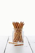 Salta Pinnar sticks in a glass jug