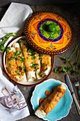 Enchiladas mit Hähnchen Tikka Masala