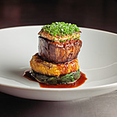 Beef tournedos rossini with goose liver