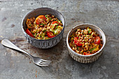 Grainy spelt and herb salad with tomatoes