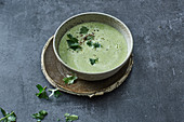 Broccoli soup with cream cheese