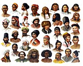 African peoples, 1902 illustration