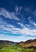 Cirrus spissatus clouds over the Lake District