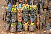 Daasanach tribe handcrafted wooden statues