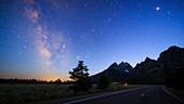 Milky Way over Grand Teton National Park