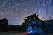 Star trails over Zhaohua, China