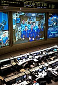 Control room and ISS astronauts, June 2018