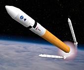 Ares V rocket, illustration