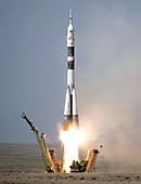 Expedition 56 launch, Soyuz MS-09, June 2018