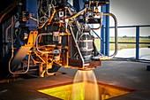 SpaceX SuperDraco engine testing, 2014