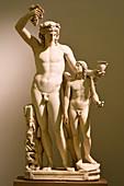 Roman statue of Dionysus and Eros, 2nd century AD