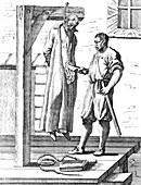 Martyrdom of John Ogilvie, 1615, illustration