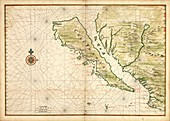 Map of California as an island, circa 1650