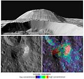 Ahuna Mons, Ceres, satellite image