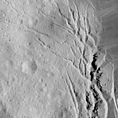 Occator Crater, Ceres, satellite image