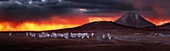 Dark sky over ALMA telescopes, Chile