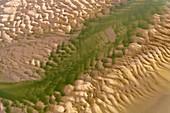 Sand bar patterns, aerial photograph