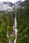 Simmen Falls, aerial photograph