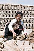 Mud brick industry, child worker