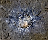 Haulani Crater, Ceres, satellite image