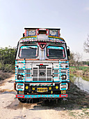 Decorated Indian van
