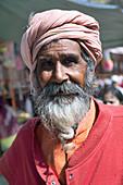 Man at Indian temple