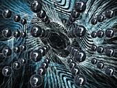 Dark matter and Big Bang, illustration