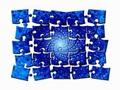 Julia fractal puzzle, illustration