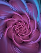 Fractal generated roseate spirals