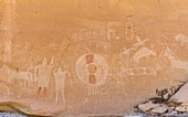 Ancient pictographs, Utah, USA