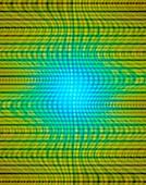 Quantum computing, abstract illustration