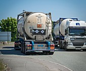 Tankers carrying hazardous chemicals
