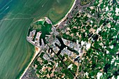 Zeebrugge, Belgium, ISS image