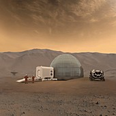 Mars Ice Home, illustration