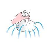 Pressure in liquids, illustration