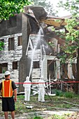 House demolition and asbestos removal