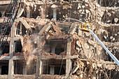 Rock Island Plow Company Building demolition, USA