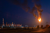 Chemical plant gas flare, USA