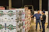 Overnight wholesale produce market, USA