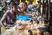 Fish market, Ganta, Liberia