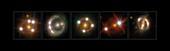 Lensed quasars, gravitational lensing montage