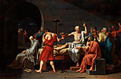 The Death of Socrates, 1787 artwork