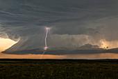 Supercell thunderstorm, Montana, USA