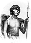 19th Century Ifugao warrior, illustration