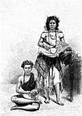 19th Century Samoan women, illustration