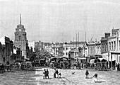 19th Century Melbourne, Australia, illustration
