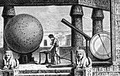 Ptolemy in Alexandria observatory, illustration
