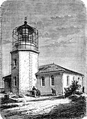 Saigon lighthouse, Vietnam, 19th Century illustration